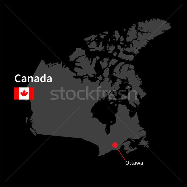 Ayrıntılı harita Kanada şehir Ottawa bayrak Stok fotoğraf © tkacchuk