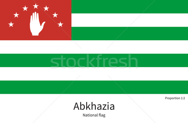National flag of Abkhazia with correct proportions, element, colors Stock photo © tkacchuk