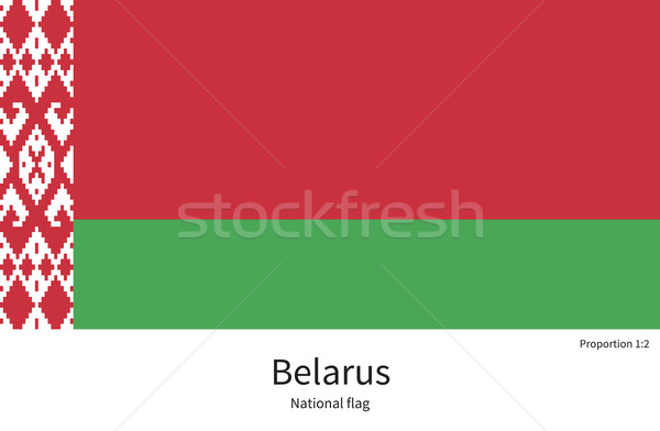 National flag of Belarus with correct proportions, element, colors Stock photo © tkacchuk