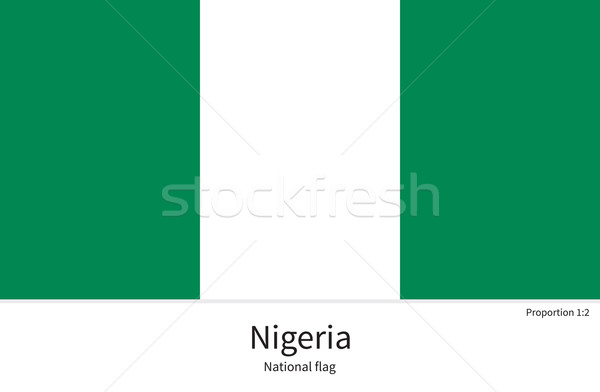 National flag of Nigeria with correct proportions, element, colors Stock photo © tkacchuk
