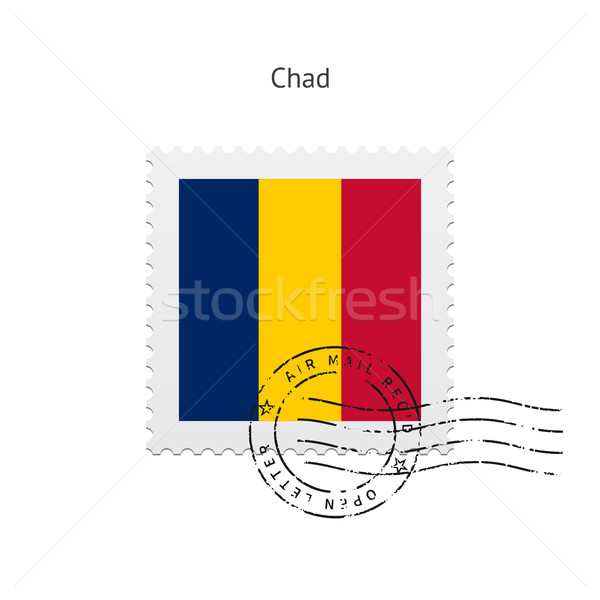 Chad bandera blanco signo carta Foto stock © tkacchuk