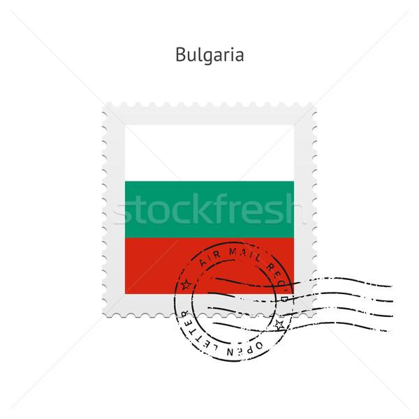 Bulgaria Flag Postage Stamp. Stock photo © tkacchuk