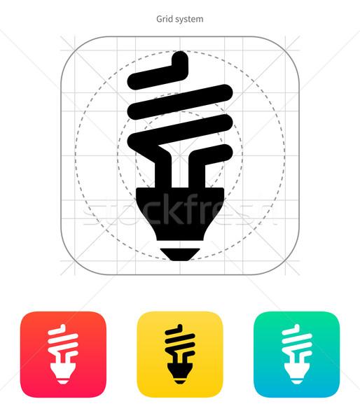 CFL bulb icon. Vector illustration. Stock photo © tkacchuk