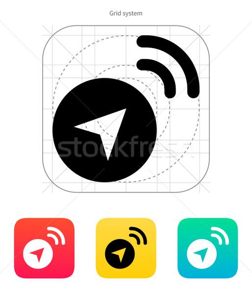 Signaal icon witte business kaart knop Stockfoto © tkacchuk