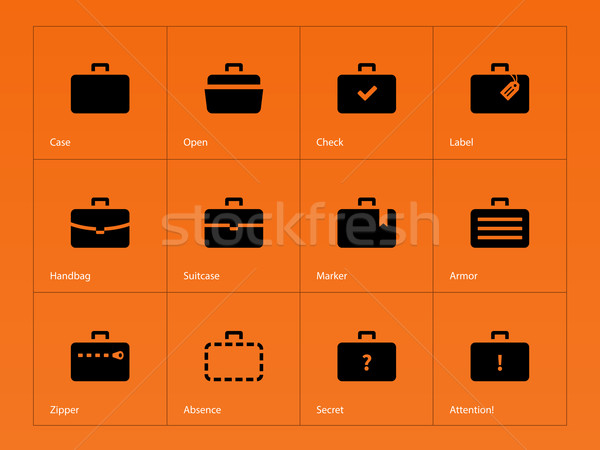 Stock photo: Case icons. Traveling bags and luggage.