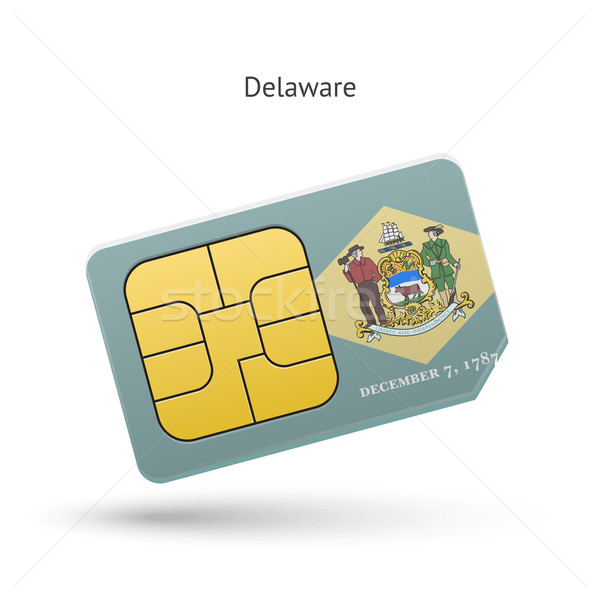State of Delaware phone sim card with flag. Stock photo © tkacchuk