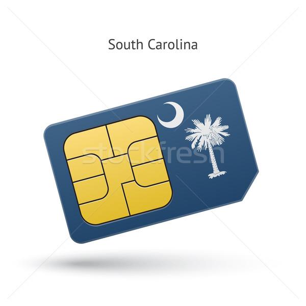 South Carolina telefoon kaart vlag business technologie Stockfoto © tkacchuk