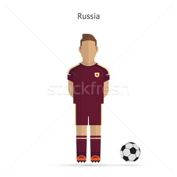 National football player. Russia soccer team uniform. Stock photo © tkacchuk