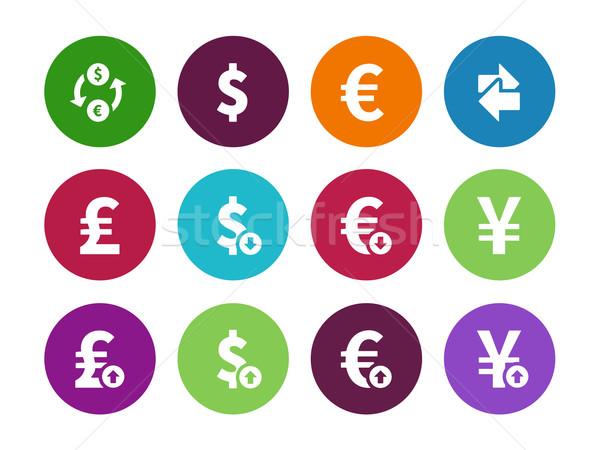 Exchange Rate circle icons on white background Stock photo © tkacchuk