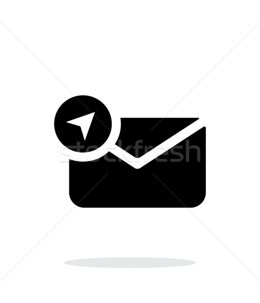 Konum posta ikon beyaz zarf işaretleri Stok fotoğraf © tkacchuk