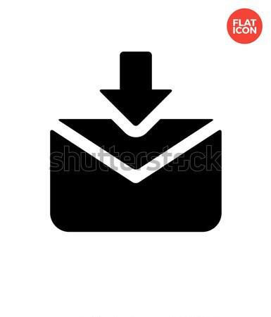 Incoming mails icon on white background. Stock photo © tkacchuk