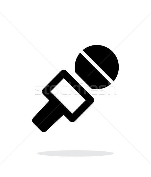 Journalist microphone icon on white background. Stock photo © tkacchuk