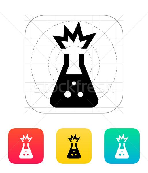 Explosive substance icon. Vector illustration. Stock photo © tkacchuk