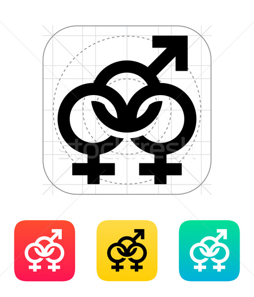 Bisexuels icône design groupe pavillon amusement Photo stock © tkacchuk