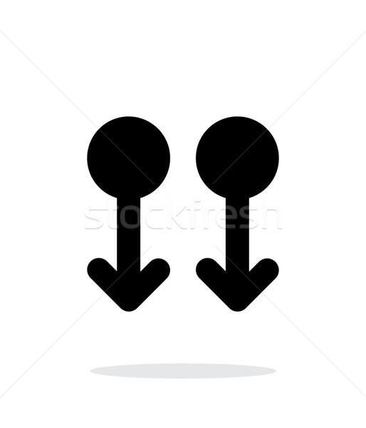 Dwa palec w dół gest streszczenie ikona Zdjęcia stock © tkacchuk