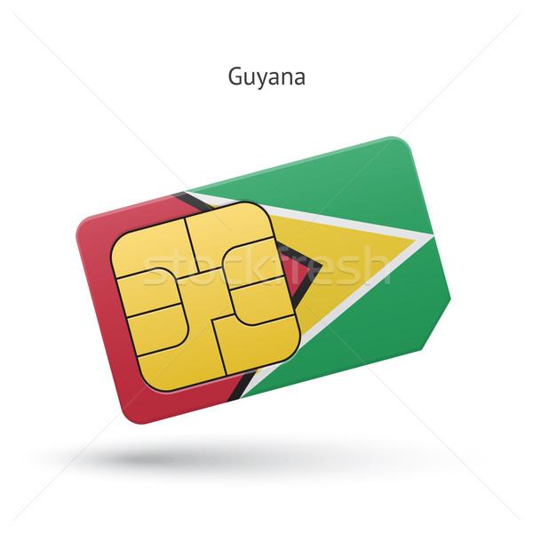 Гайана мобильного телефона карт флаг бизнеса дизайна Сток-фото © tkacchuk