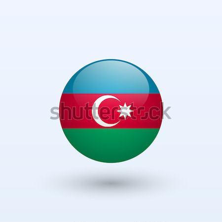 Azerbaiyán bandera gris signo web viaje Foto stock © tkacchuk