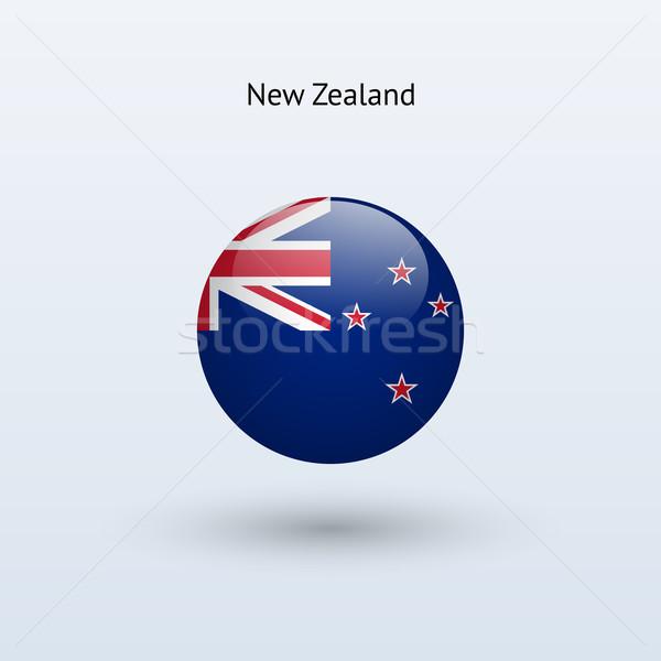 Новая Зеландия флаг серый знак веб путешествия Сток-фото © tkacchuk