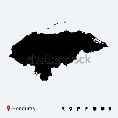 高い 詳しい ベクトル 地図 エクアドル ナビゲーション ストックフォト © tkacchuk