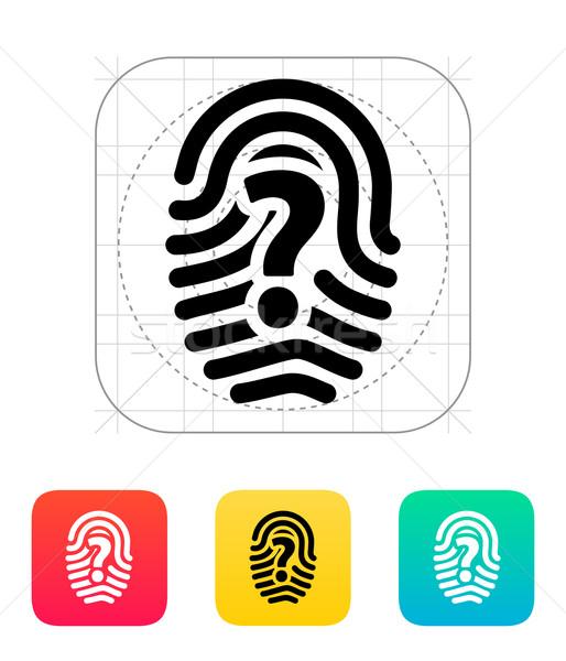 Question mark sign thumbprint icon. Stock photo © tkacchuk