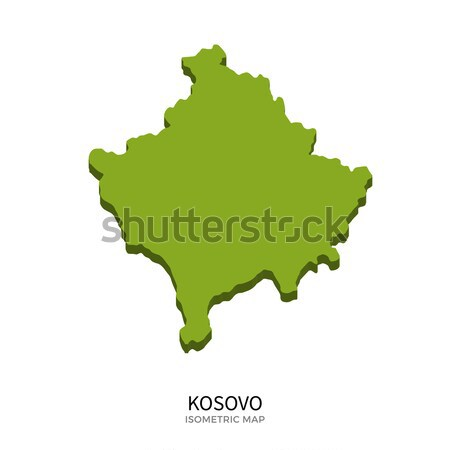 Isométrica mapa Kosovo detalhado isolado 3D Foto stock © tkacchuk