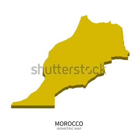 Isometric map of Morocco detailed vector illustration Stock photo © tkacchuk