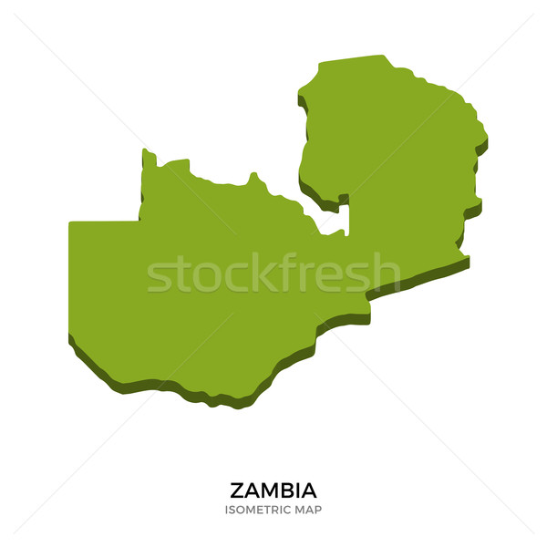 Isometric map of Zambia detailed vector illustration Stock photo © tkacchuk