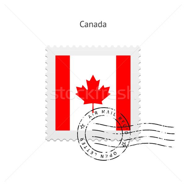 Canadá bandeira branco assinar carta Foto stock © tkacchuk