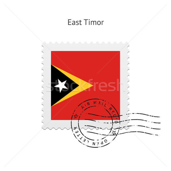 East Timor Flag Postage Stamp. Stock photo © tkacchuk