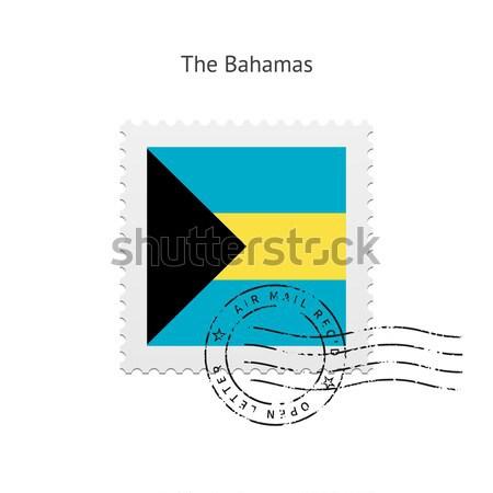 Vlag witte teken brief stempel Stockfoto © tkacchuk