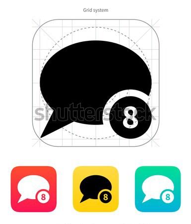 Number of message icon. Vector illustration. Stock photo © tkacchuk