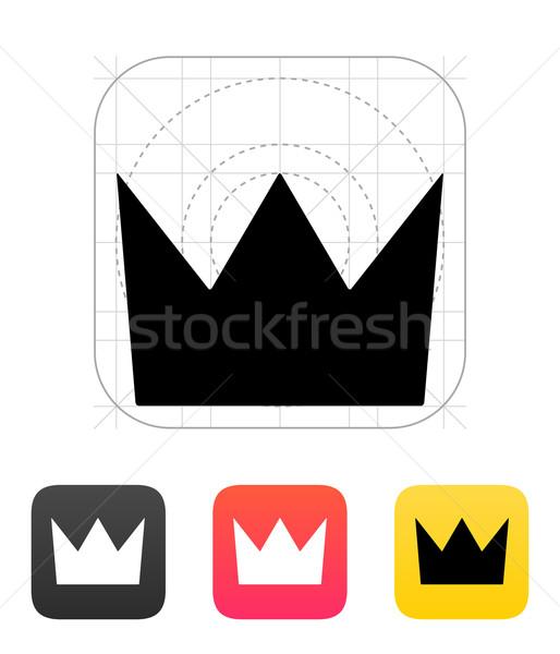 Kroon koning iconen achtergrond silhouet hoed Stockfoto © tkacchuk