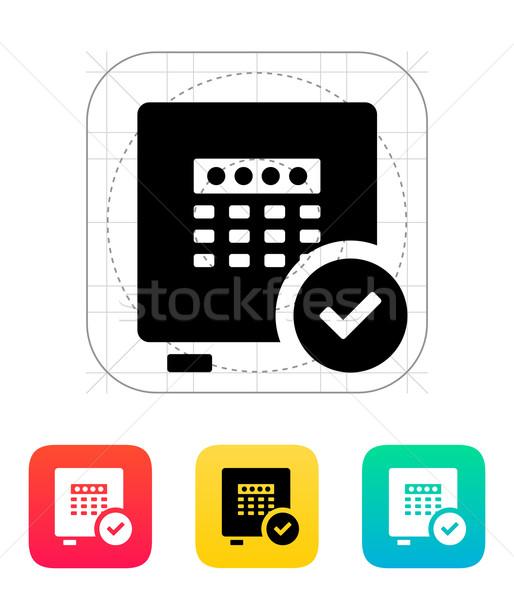 Strongbox check icon. Stock photo © tkacchuk
