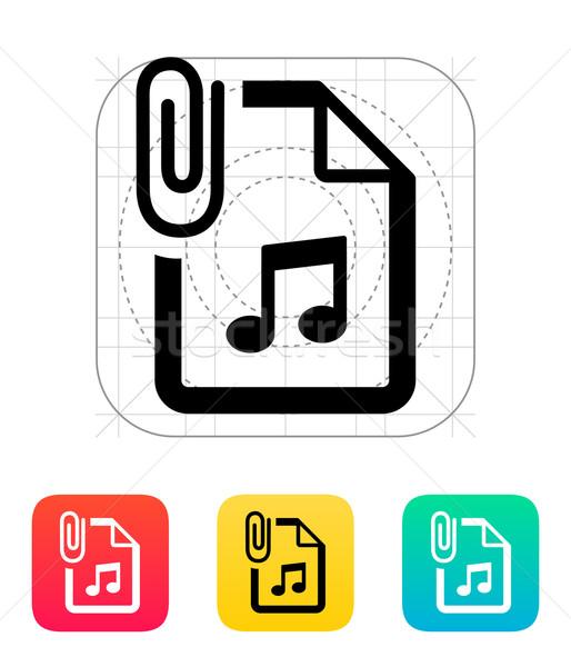 Anexada Áudio arquivo ícone escritório música Foto stock © tkacchuk