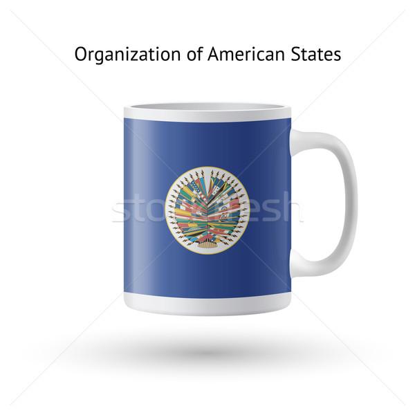 Organización americano bandera taza blanco Foto stock © tkacchuk