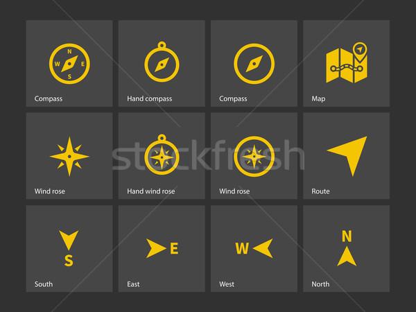 Compass icons. Stock photo © tkacchuk