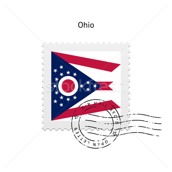 State of Ohio flag postage stamp. Stock photo © tkacchuk