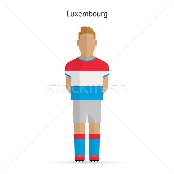 Luxembourg football player. Soccer uniform. Stock photo © tkacchuk