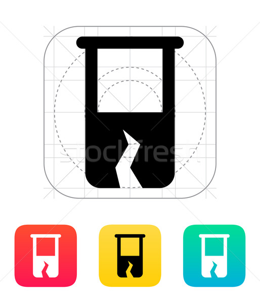 Broken test tube icon. Vector illustration. Stock photo © tkacchuk
