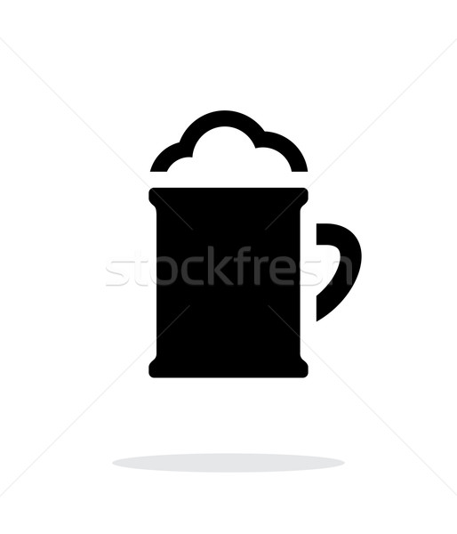 Beer mug with foam simple icon on white background. Stock photo © tkacchuk