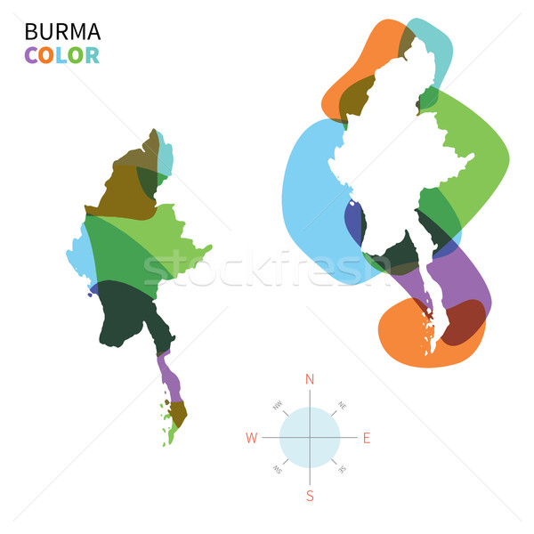 Abstract vector kleur kaart birma transparant Stockfoto © tkacchuk