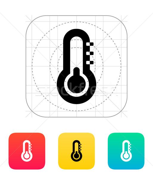Termometre eksi hava durumu ikon gökyüzü dizayn Stok fotoğraf © tkacchuk
