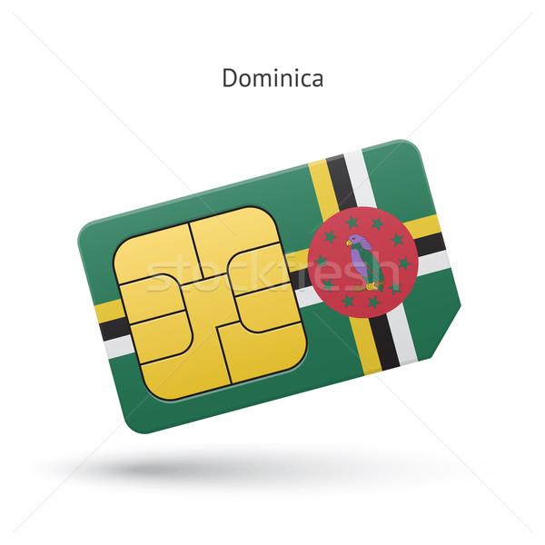 Доминика мобильного телефона карт флаг бизнеса дизайна Сток-фото © tkacchuk