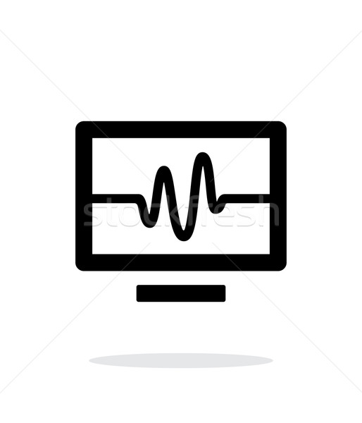 Tv sinyal basit ikon beyaz Internet Stok fotoğraf © tkacchuk