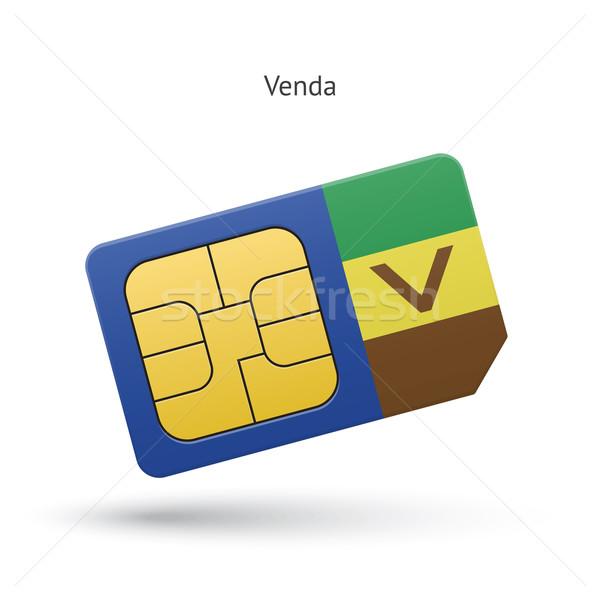 Venda mobile phone sim card with flag. Stock photo © tkacchuk