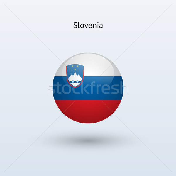 Slovenia round flag. Vector illustration. Stock photo © tkacchuk