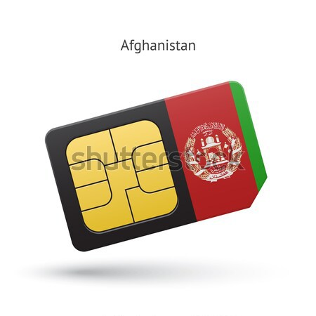 Credit card with Afghanistan flag background for bank, presentations and business. Isolated on white Stock photo © tkacchuk
