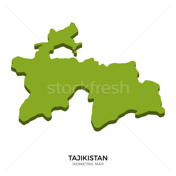 Isometric map of Tajikistan detailed vector illustration Stock photo © tkacchuk