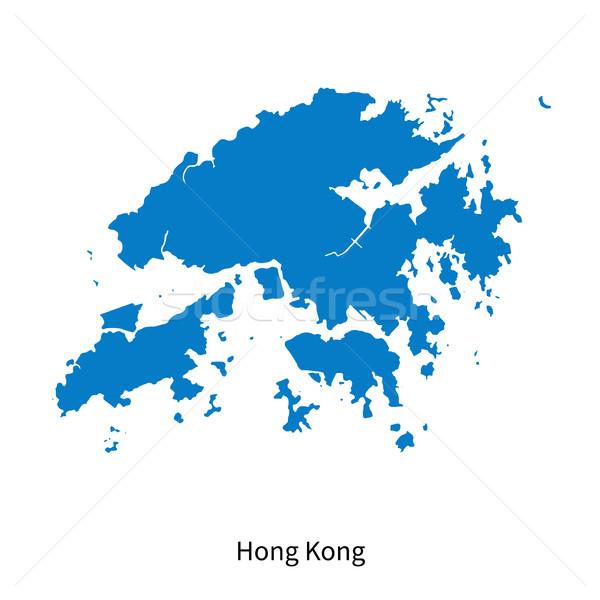 Detailed vector map of Hong Kong Stock photo © tkacchuk