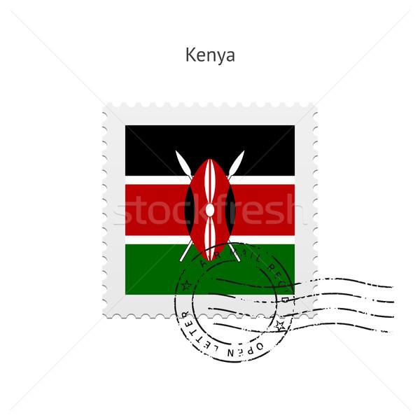 Kenya zászló postabélyeg fehér felirat levél Stock fotó © tkacchuk